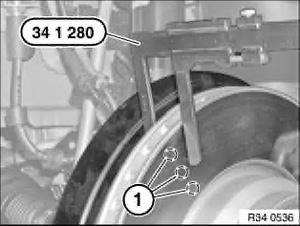 BMW e38 датчик износа колодок